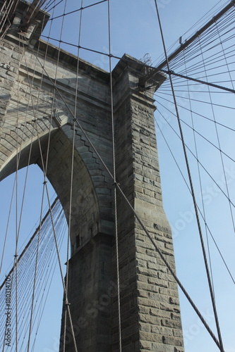 Foto op Aluminium Brooklyn Bridge Brooklyn Bridge detail 2