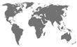 world map, isolated