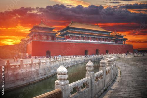 Deurstickers Peking Forbidden City