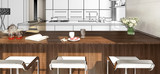 Modern Kitchen Arrangement in Concept (panoramic)