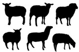 sheep silhouettes  - 180320179
