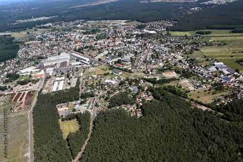 Fotobehang Grijs Stadt Torgelow, industriegebiet 2016