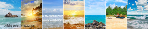 Foto op Aluminium Strand Panoramic view of tropical beaches and beautiful sky.