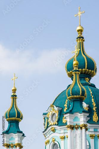 Fotobehang Kiev St Andrew's Church, Kiev