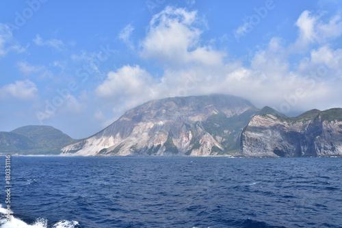 洋上から見た神津島
