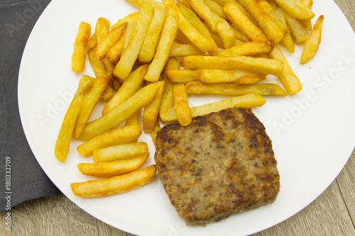 Foto op Plexiglas Steakhouse steak et frites