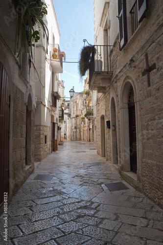 Poster Smal steegje Alleyway. Rutigliano. Puglia. Italy.