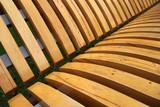 Wooden laths on a city shop - 180344782
