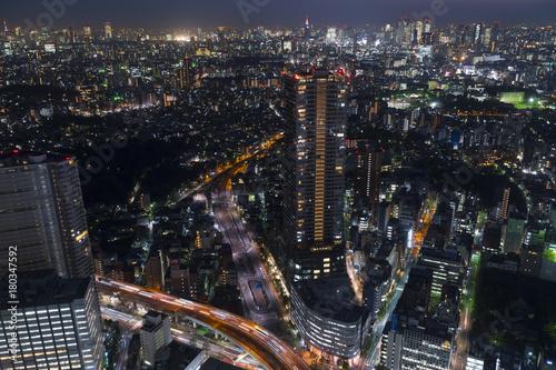 In de dag Tokio 東京夜景