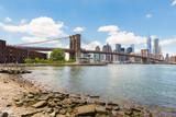 Brooklyn Bridge view and Manhattan skyline - 180350959