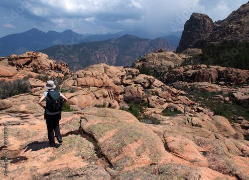 Papiers peints Saumon Wandern auf Korsika