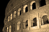 The Roman Colosseum, in sepia toning Rome Italy - 180373569
