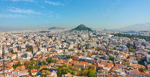 Fotobehang Athene Panoramic view of Athens city