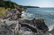 Rocky Shoreline in Newfoundland:  A view of Admiral's Cove on the eastern shore of Newfoundland south of St. John's.