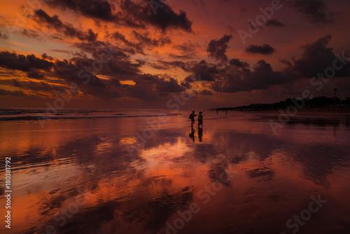 Plexiglas Bali Sunset at Kuta beach - Indonesia