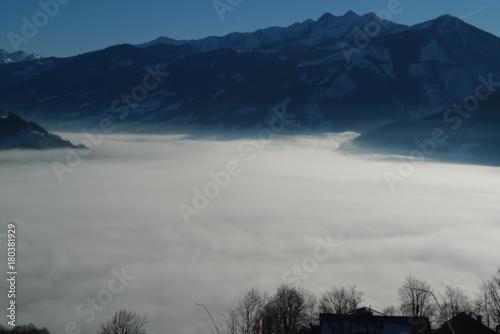 Fotobehang Donkergrijs Winter mountains. Tyrol, Austria
