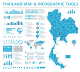 Thailand Map - Info Graphic Vector Illustration
