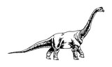 Graphical dinosaur isolated on white background,vector illustration