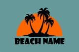 simple beach icon