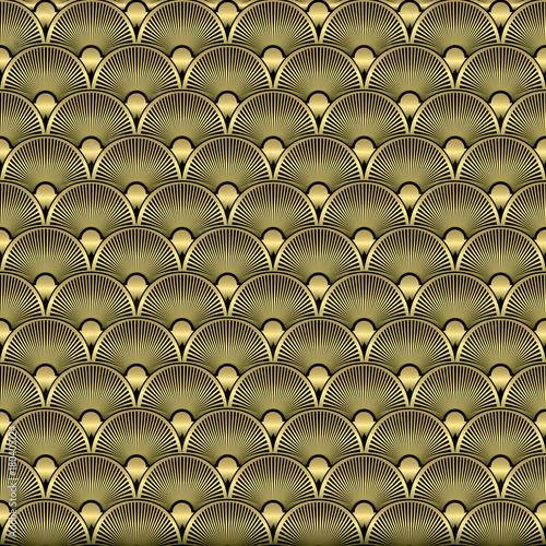 Fototapeta Art Deco Seamless Pattern Background. Vector