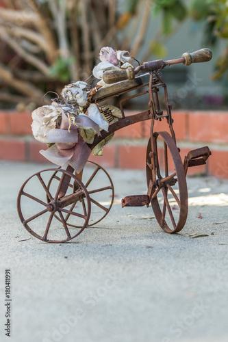 Deurstickers Fiets Rusty bicycle