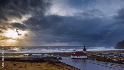 Foto op Canvas Zee zonsondergang Islande - Iceland - Vik