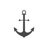 Vector anchor icon, Ship anchor or boat anchor flat icon