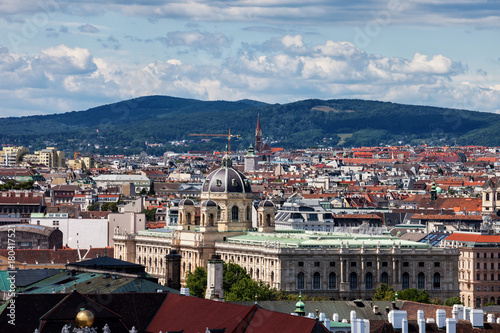 Foto op Canvas Wenen Vienna City Cityscape With Natural History Museum in Austria
