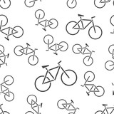 Bike icon seamless pattern background icon. Business flat vector illustration. Bicycle sign symbol pattern.
