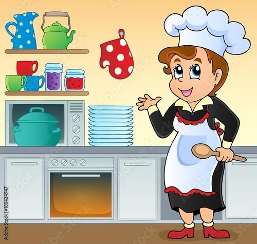 Aluminium Voor kinderen Female cook topic image 1