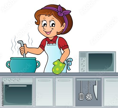 Aluminium Voor kinderen Female cook topic image 2