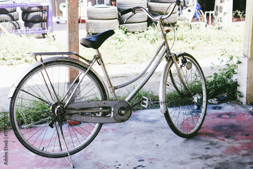 Deurstickers Fiets Old And Vintage Bicycle