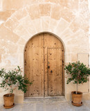 Mallorca: archaic colorful beautiful gate, entry door :) - 180427717