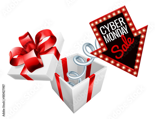 Cyber Monday Box Spring Sale Sign