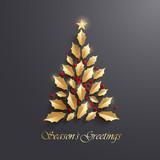 Christmas tree. Seasons Greeting.  - 180428161
