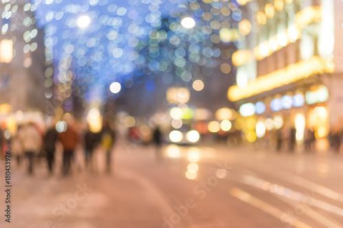 Lichter der Stadt - unscharfer Hintergrund