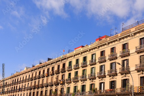 Foto op Canvas Barcelona Endless Rows of Apartment Flats