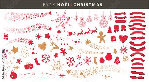 Papiers peints Echelle de hauteur Décoration de Noël