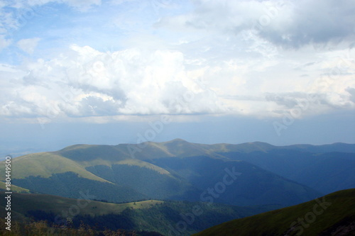 Fotobehang Nachtblauw cloudy weather in the Ukrainian Carpathians.