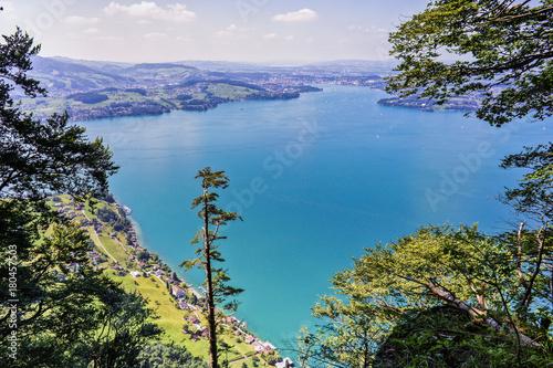 Aluminium Blauwe jeans lake Luzern