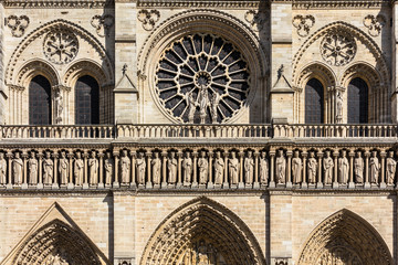 Notre Dame de Paris Cathedral: Architectural details. Paris, France