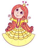Little cute princess yellow