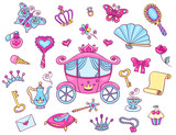 Cute princess set with carriage