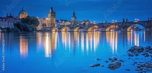 Staande foto Athene View on Prague, Czech Republic