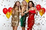 Beautiful Women Celebrating New Year, Having Fun At Party - 180469111