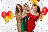 Beautiful Women Celebrating New Year, Having Fun At Party - 180469174