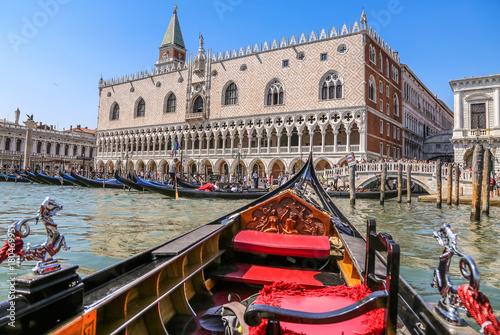 Foto op Canvas Venetie Gondolas of Venice Italy