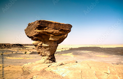 Rock formation at Sahara desert near Tchirozerine region, Agadez, Niger