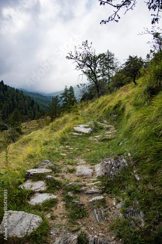 Fotobehang Bergrivier Upega, Piemonte