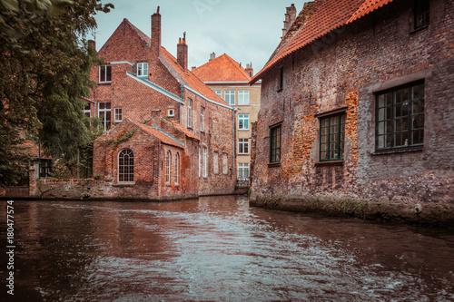 Fotobehang Brugge Brügge, Belgien, Mittelalter, Mittelalterstadt, Alte Bauwerke, Alte Gebäude